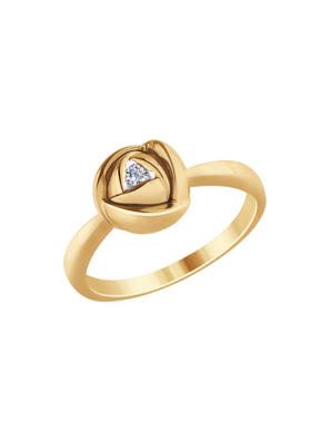 Nhẫn vàng hoa hồng Sokolov đính kim cương - 1011686No183