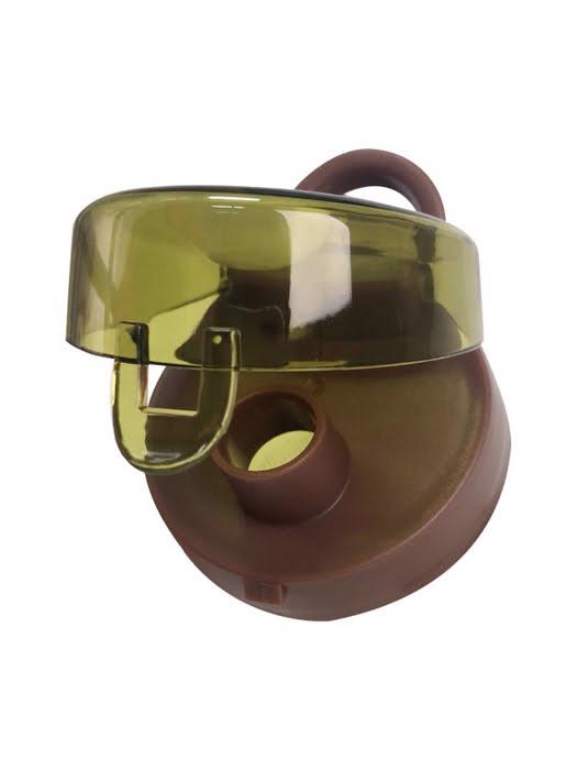 Bình nước uống thể thao Lafonte với tay cầm gợn sóng bằng silicon (500ml)