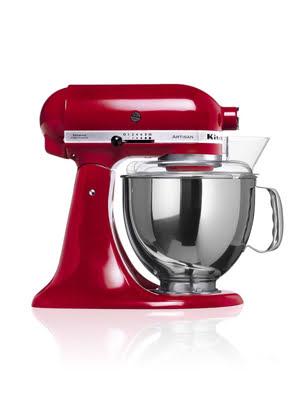 Máy trộn đứng đầu nghiêng KitchenAid Artisan® 220V màu đỏ