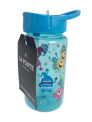 Bình nước uống thể thao trẻ em La Fonte 430ml màu xanh - 000815