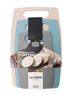 Bộ 3 thớt rơm lúa mì La Fonte - 000945