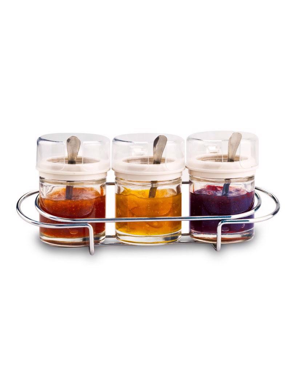 Bộ gia vị 3 món khay inox Moriitalia