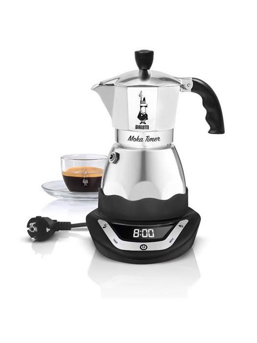 Máy pha cà phê Bialetti chạy điện hẹn giờ Moka Timer 3 cup - 0006092