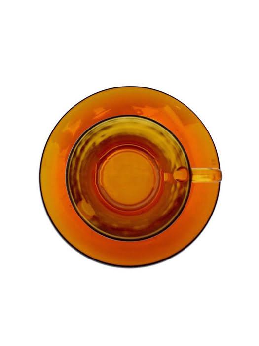 Bộ ly Duralex 12 món Lys Vermeil (6 ly + 6 dĩa) màu đỏ 9006DS12