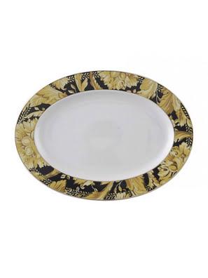 Dĩa ăn bằng sứ Versace Vanity 34cm - 403608.12734