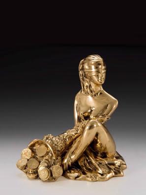 Tượng thiếu nữ may mắn bằng đồng Virtus - 1530
