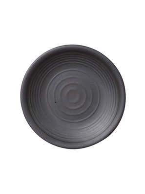 Dĩa tròn melamin Kormel 222mm màu đen E10469.B
