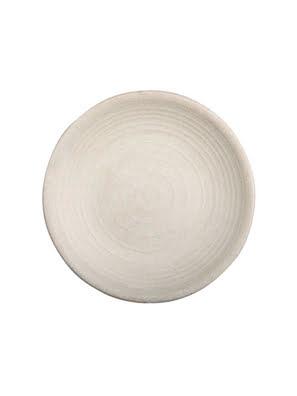 Dĩa tròn melamin Kormel 255mm màu kem - E10470