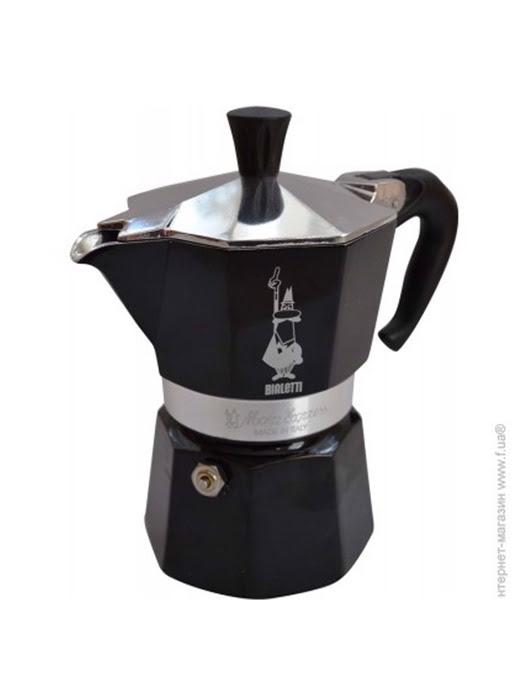 Bình pha cà phê Bialetti Moka 3 cup màu đen - 0004952