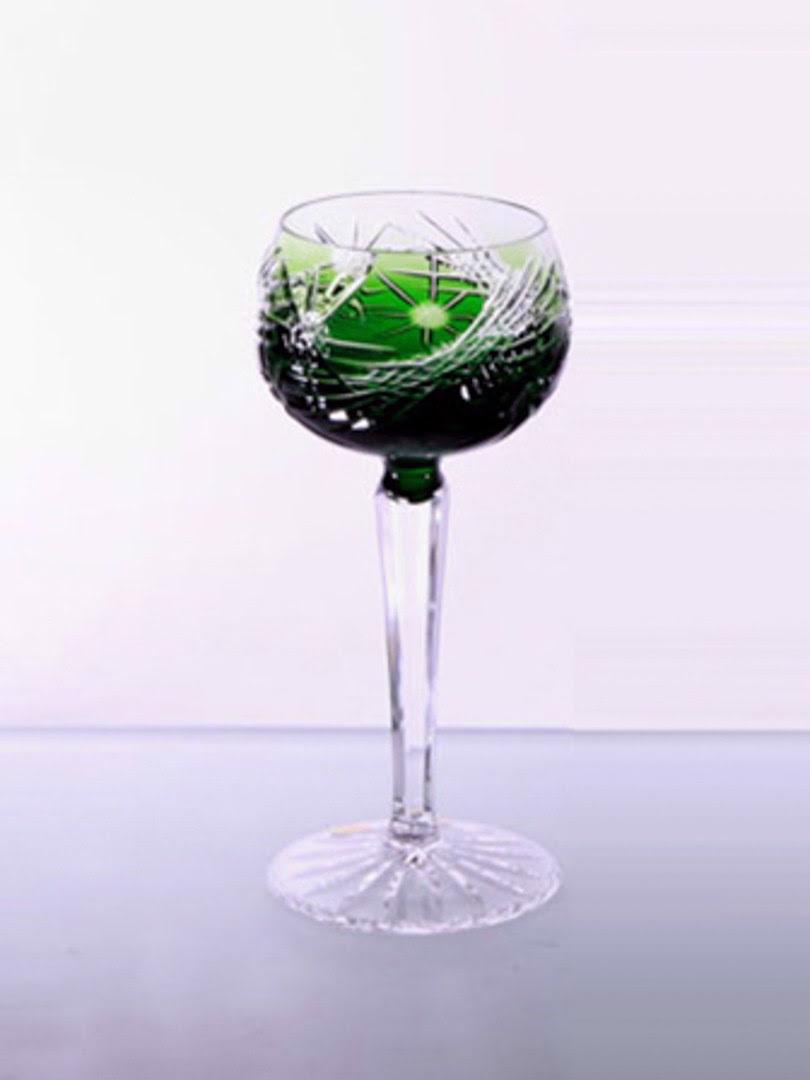 Ly rượu pha lê xanh Tom Bohemia