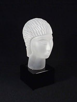 Tượng thần Hi lạp Sphinx pha lê Tom Bohemia