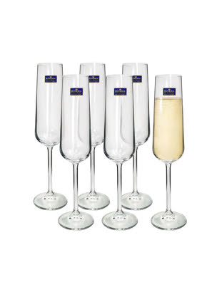 Bộ 6 ly rượu Champagne Globo - Bohemia Crystal