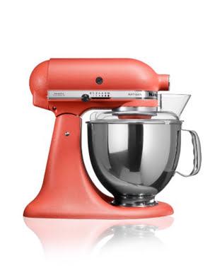 Máy trộn đứng đầu nghiêng KitchenAid Artisan® 220V đỏ cam