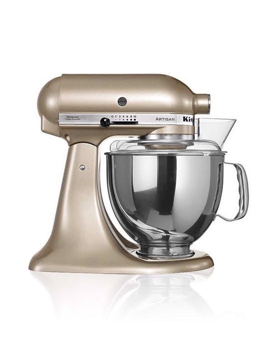 Máy trộn đứng đầu nghiêng KitchenAid Artisan® 220V màu toffee