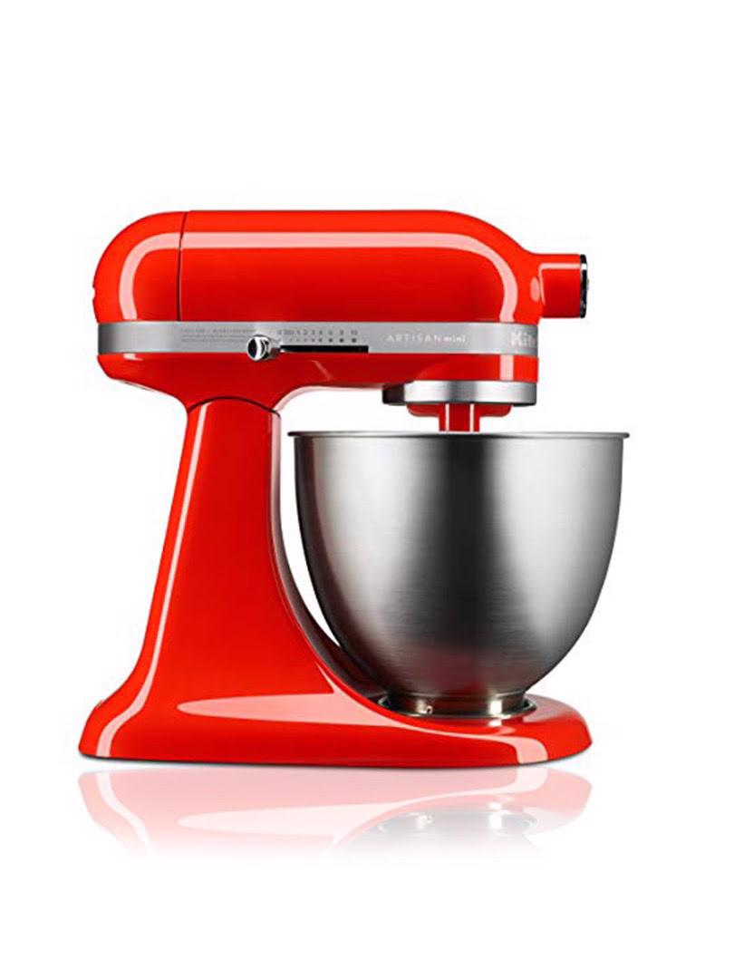 Máy trộn đứng đầu nghiêng KitchenAid Artisan® Mini 220V màu đỏ