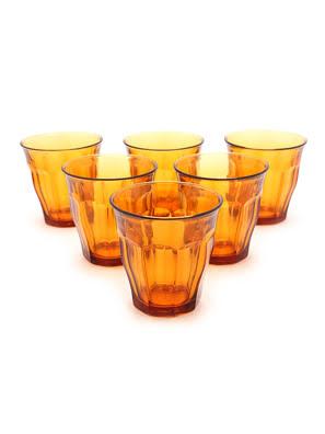 Bộ 6 ly thuỷ tinh Duralex Picardie Amber 250ml màu amber 1027DB06A0111