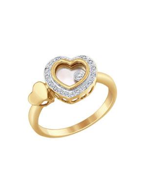 Nhẫn vàng đính đá hình trái tim Sokolov 1011655No1864
