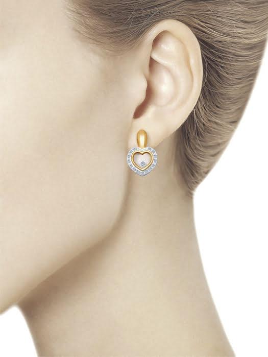 Bông tai mạ vàng đính đá quý 1021168No17166