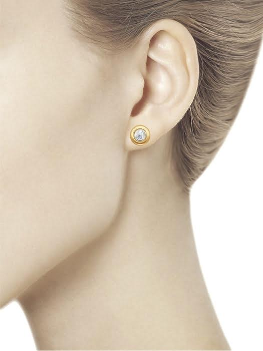 Bông tai vàng Sokolov đính đá quý - 1021096No1753