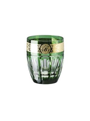Ly thuỷ tinh Whisky tumbler bằng sứ Versace Green - 320668.40401
