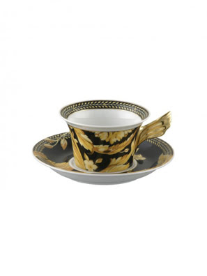 Tách trà & dĩa bằng sứ Versace Vanity - 403608.14640