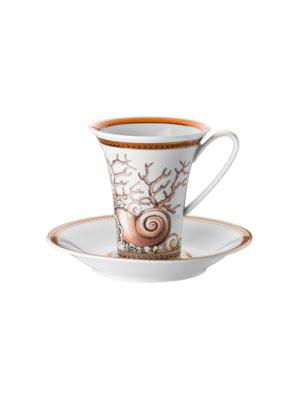 Bộ tách trà Versace Les Étoiles de la Mer bằng sứ 1 tách và 1 đĩa