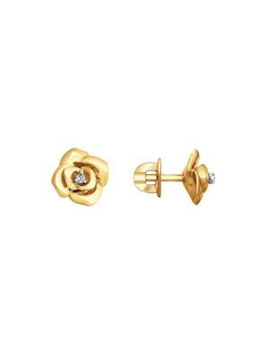 Bông tai vàng Sokolov đính kim cương - 1021202No1853