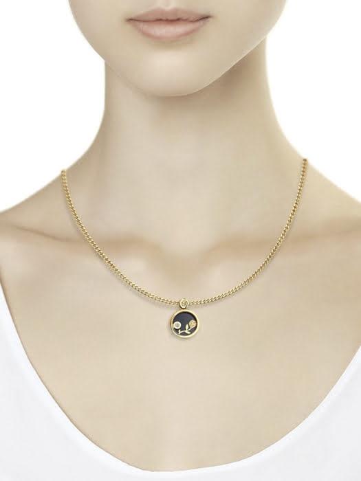Mặt dây chuyền với đá quý tổng hợp 1030457No16320