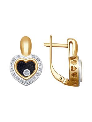 Bông tai vàng Sokolov đính kim cương và saphir - 1021169no1896