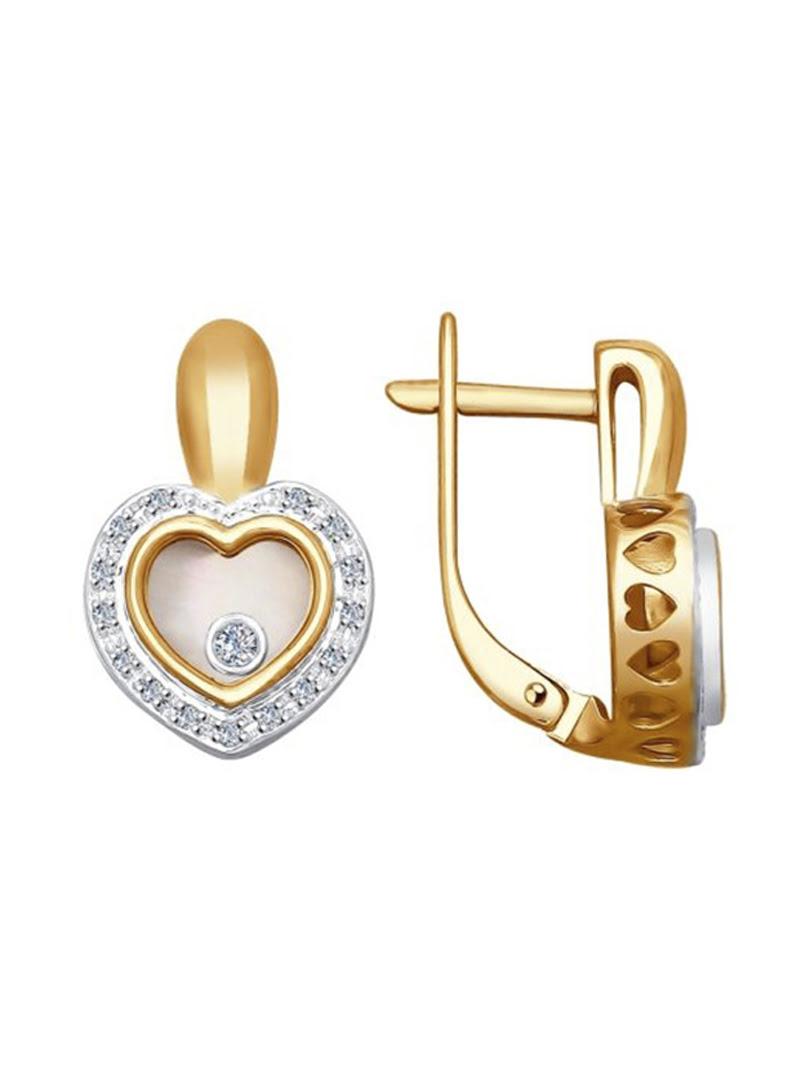 Bông tai Sokolov mạ vàng đính đá quý - 1021168No1752