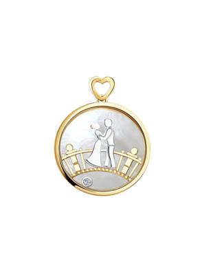 Mặt dây chuyền Sokolov bằng vàng đính đá - 1030602No1815