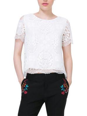 Áo ngắn tay nữ BLOUSE size L BLANCO - 73B2YK31000L