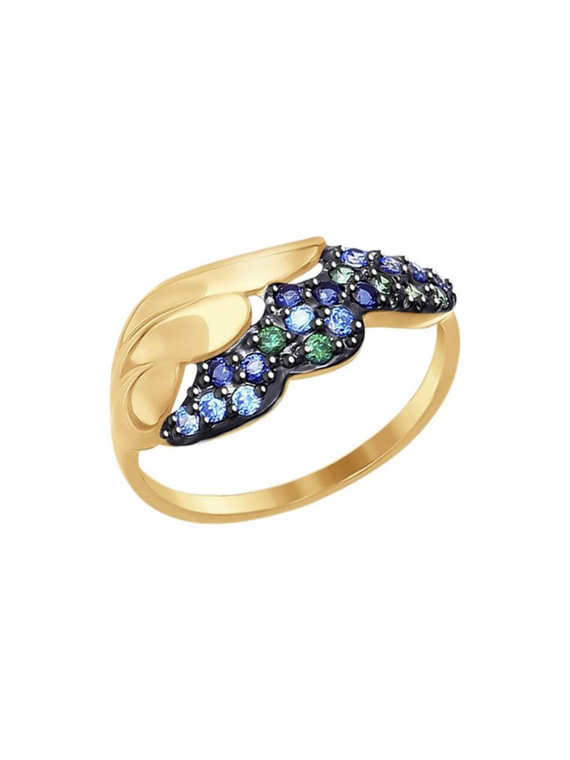 Nhẫn vàng Sokolov đính kim cương zirconia - 017277
