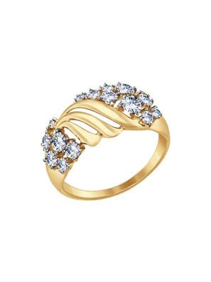 Nhẫn vàng Sokolov đính đá cz - 017404