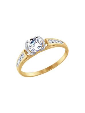Nhẫn vàng Sokolov đính đá cz - 017524