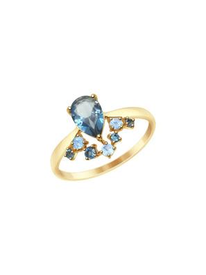 Nhẫn vàng Sokolov đính đá hoàng ngọc london - 715028
