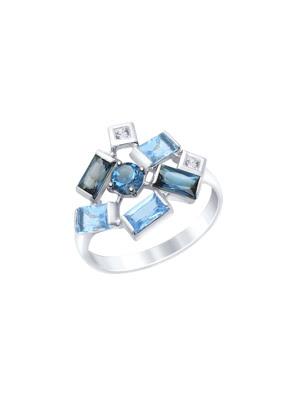 Nhẫn vàng 585 đính đá hoàng ngọc, swarovski cz 715099