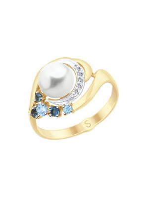 Nhẫn vàng mặt ngọc trai đính đá 791063
