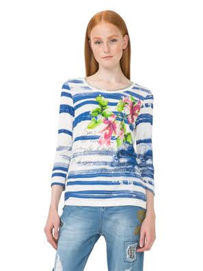 Áo dài tay nữ T-SHIRT MARINO - 73T2EE95001
