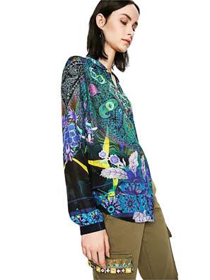 Áo dài tay nữ SHIRT QUENNY - 73C2WF24099