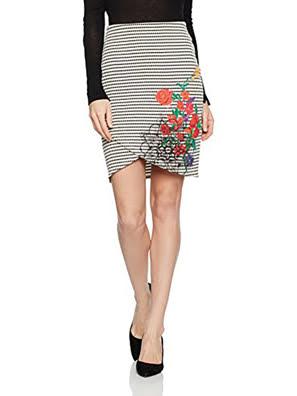 Váy nữ thêu hoạ tiết hoa Desigual size S - 71F2YB01000S