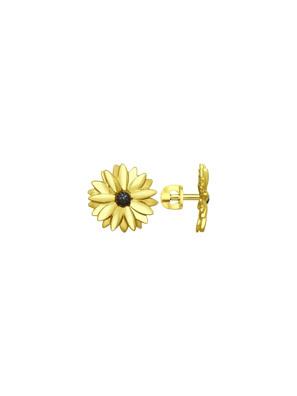 Bông tai Sokolov hoa cúc bằng bạc mạ vàng không đính đá - 93020812