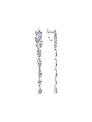 Bông tai Sokolov bạc đính kim cương zirconia - 94022375