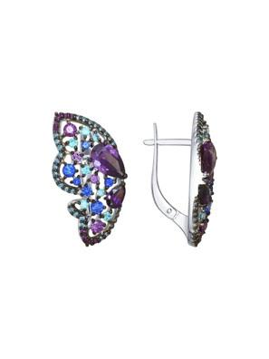 Bông tai Sokolov bạc đính kim cương zirconia -  94022510