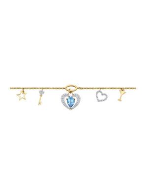 Vòng đeo tay vàng đính ngọc trai và kim cương zirconia - 750204