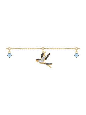 Vòng đeo tay vàng đính đá hoàng ngọc và kim cương zirconia - 750281