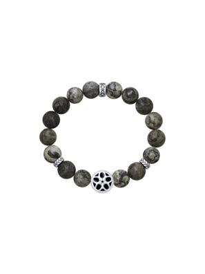 Vòng tay bạc Sterling đính đá agate, men và kim cương zirconia - 8510500005