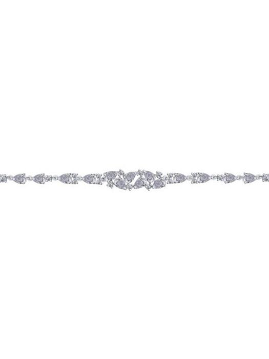 Vòng đeo tay bằng bạc Sterling đính kim cương zirconia - 94050354