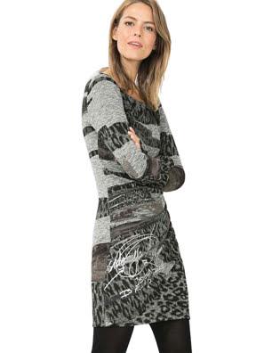 Đầm dài tay Desigual VEST_ROSAURA - 67V20X62000