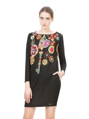 Đầm tay lỡ Desigual VEST_ESTELA B - 67V20D02000